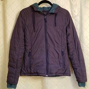 Title Nine fleece lined coat with hood small